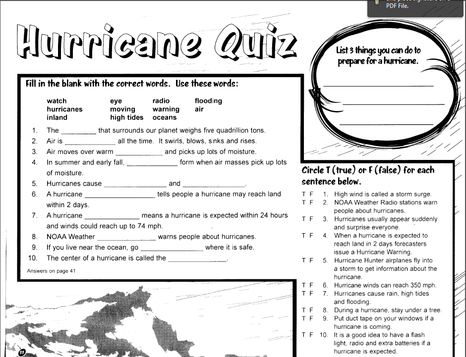 Hurricanes for Fourth Grade Lear